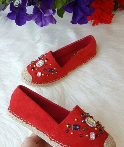 espadrilles, sieviešu vasaras apavi, sarkanas kurpes,
