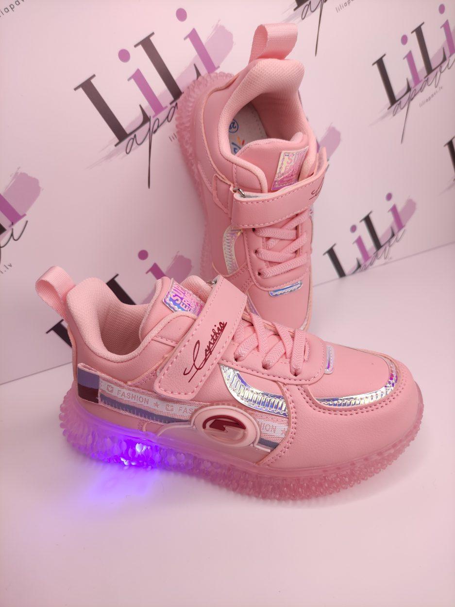 stilīgas botes ar gaismiņām, apavi ar gaismiņām, meiteņu botes, liliapavi