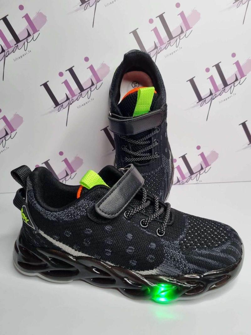 zēnu botes ar led gaismiņām, bērnu apavi, liliapavi,