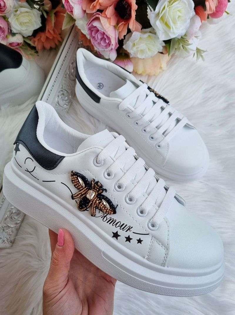 brīvā laika apavi, sieviešu kedas, baltas botas, apavi,