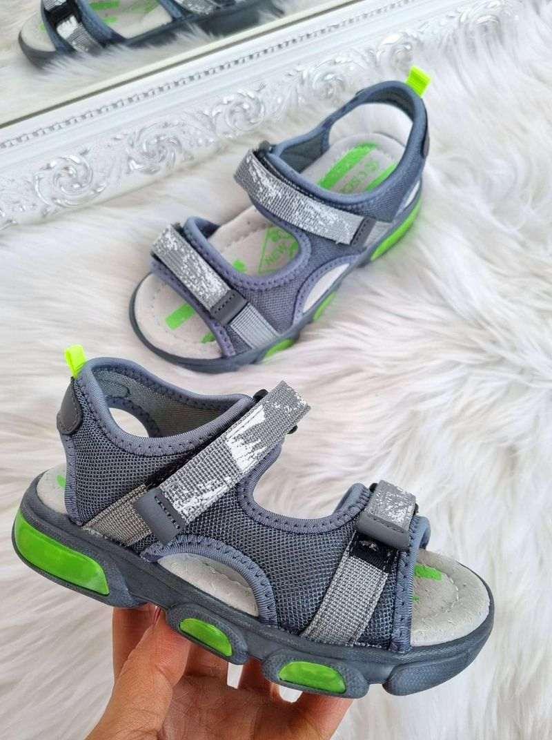 apavi bērniem, bērnu apavi, sandales ar led gaismiņām, zēnu sandales, apavi internetā,
