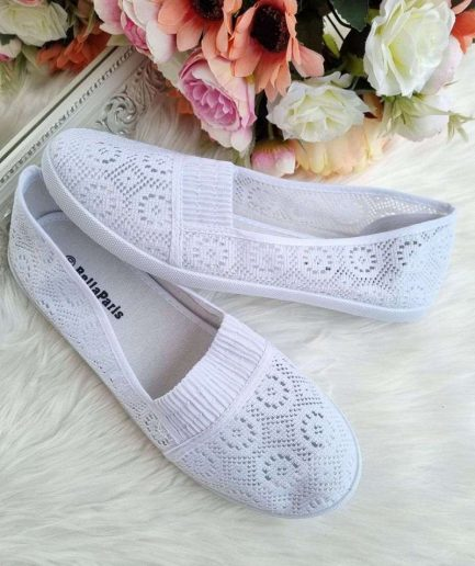 Bella paris apavi, lielāka izmēra apavi sievietēm, tekstila apavi, baltas kedas,
