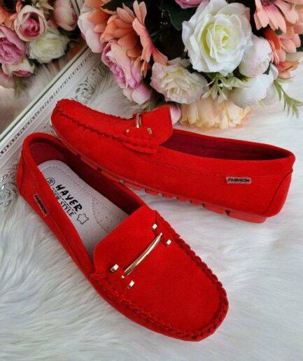 sieviešu mokasīni, ērti ikdienas apavi sievietēm, sarkanas kurpes, slēgtās kurpes, mokasīni, liliapavi,