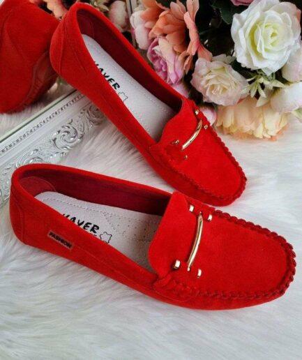 sarkani sieviešu apavi, sieviešu mokasīni, ērti ikdienas apavi sievietēm, sieviešu apavi internetā, liliapavi,