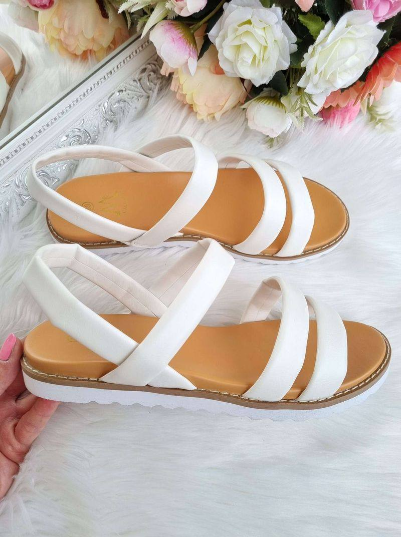 baltas sandales sievietēm, sieviešu vasaras apavi, apavi sievietēm internetā,