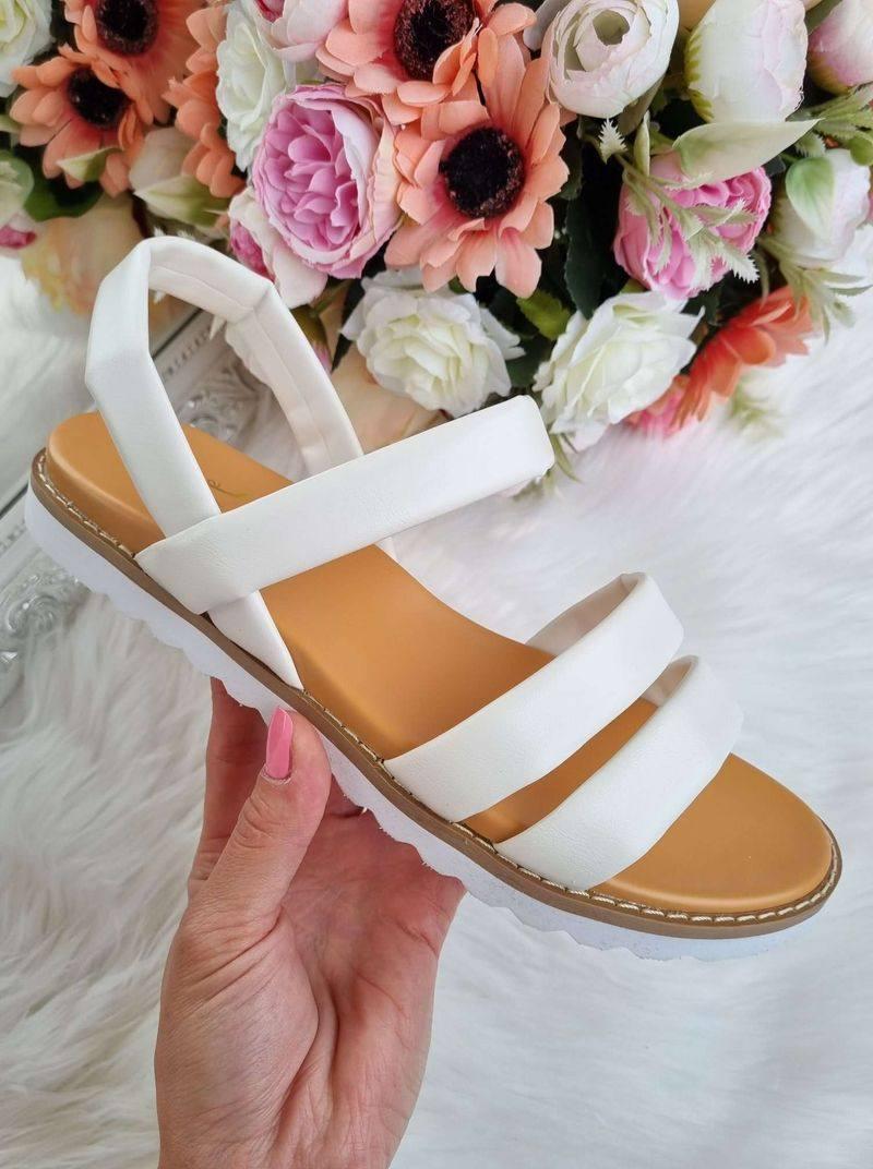baltas sieviešu sandales, apavi sievietēm, sieviešu apavi internetā,