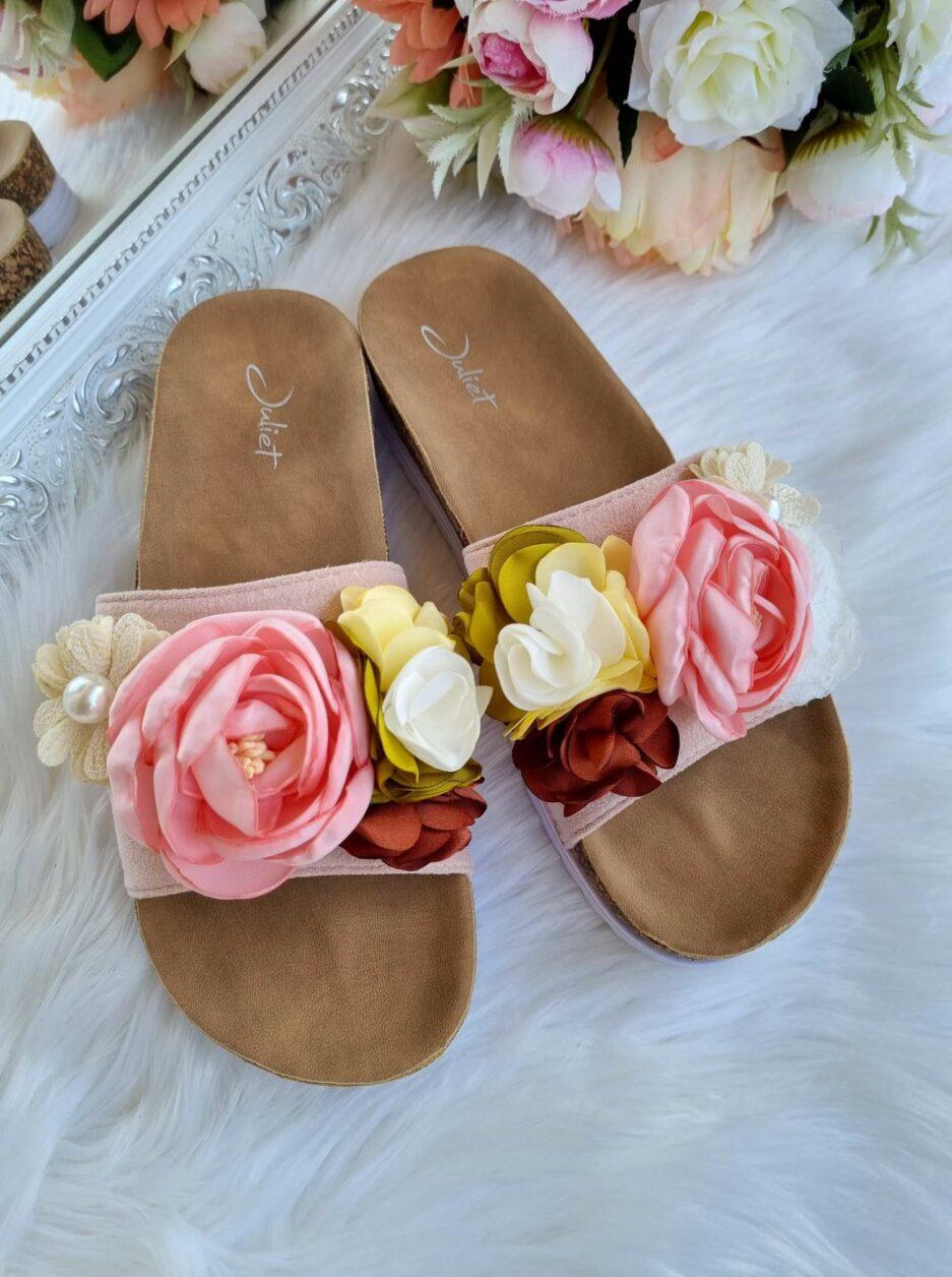 iešļūcenes sievietēm, vasaras apavi ar ziediem, sieviešu apavi, apavi internetā sievietēm,