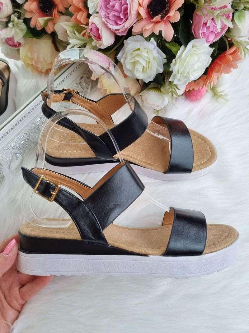 melnas sieviešu sandales, sandales uz platformas, apavi sievietēm, apavi liliapavi,