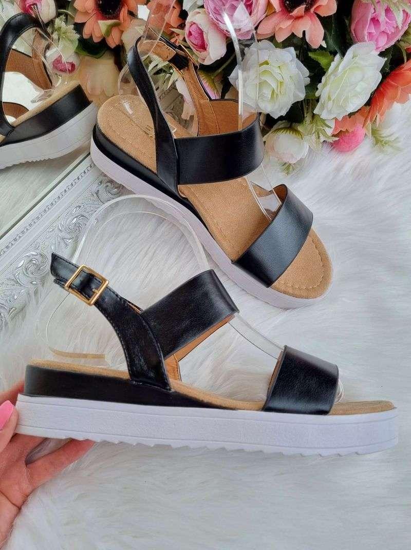 melnas sieviešu sandales, apavi liliapavi, apavi uz platformas,