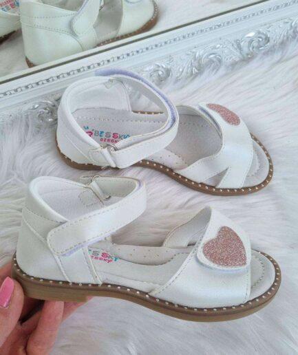 meiteņu sandales, sndales bērniem, baltas meiteņu sandales, stilīgi bērnu apavi, apavi bērniem interneta veikals,