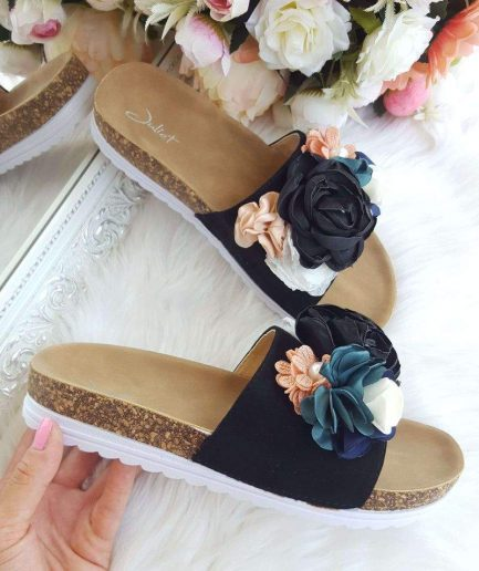 vasaras-ieslucenes, sieviešu apavi vasarai, apavi ar ziediem, stilīgi apavi sievietēm, apavi sieviešu, apavi liliapavi,