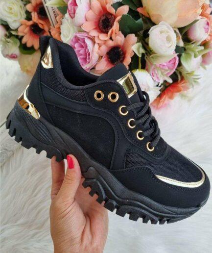 melnas sieviešu botas, botes ar melnu zoli, sieviešu brīvā laika apavi, botes ar biezu zoli, botas uz biezas zoles, apavi-liliapavi,