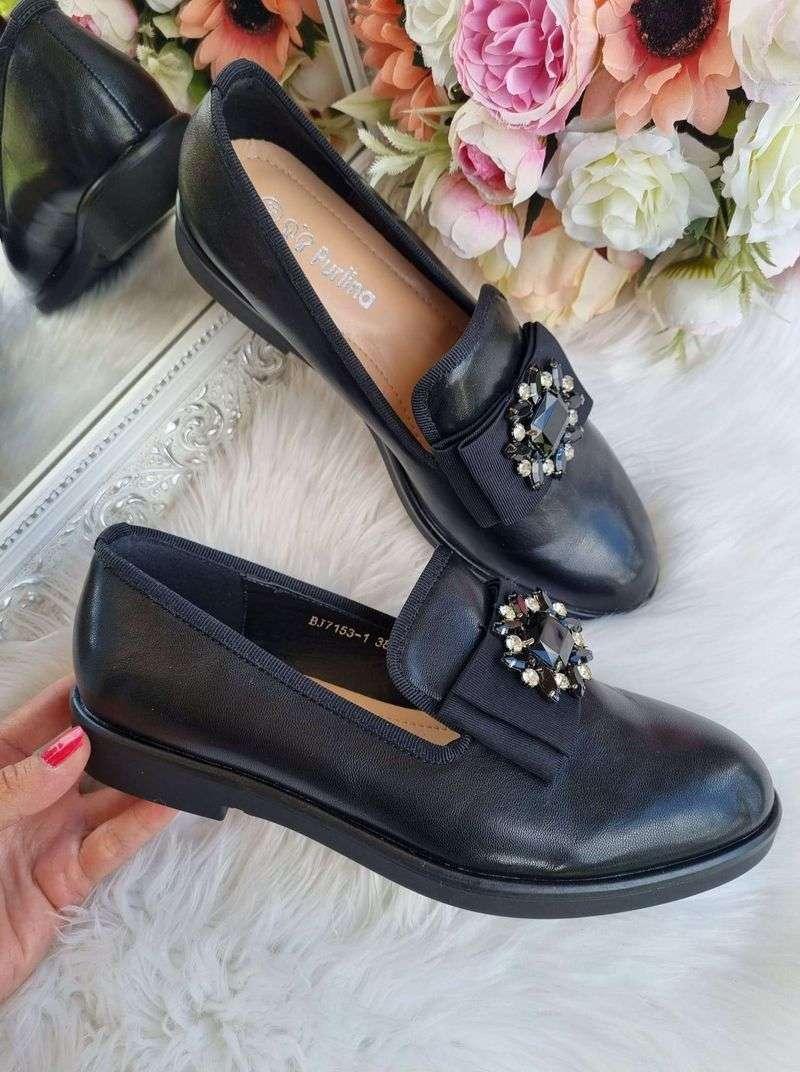 purlinas balerīnas, sieviešu laiviņas, melnas kurpes zemās, rudens slēgtās kurpes, apavi liliapavi,