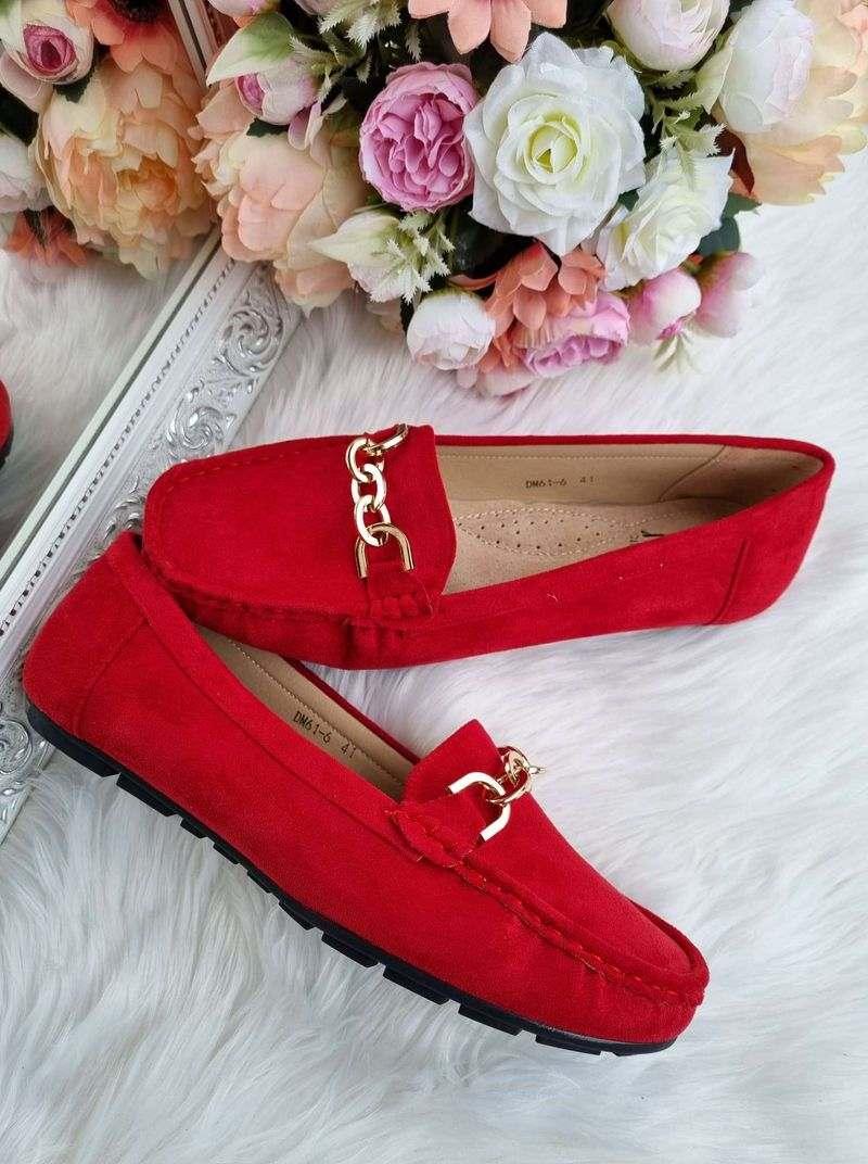 sarkani sieviešu mokasīni lielie izmēri, lielāka izmēra apavi sievietēm, apavi 40+,
