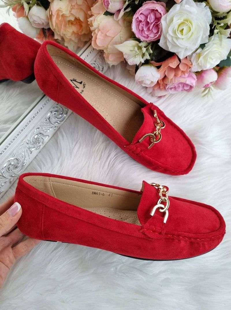 sarkani sieviešu mokasīni, lielāka izmēra apavi sievietēm, lielo izmēru mokasīni, lielie izmēri 41-42-43-44,