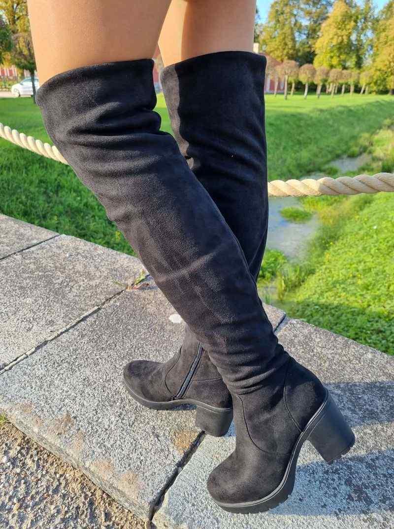 garie zābaki uz papēža, sieviešu botforti uz papēža, garie zābaki botforti, sieviešu apavi internetā, apavi liliapavi,