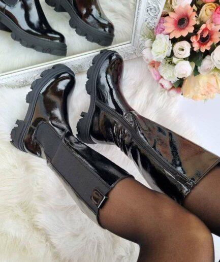 sieviešu garie zābaki, lakoti pusgarie zābaki, zābaki garie zem ceļa, moderni sieviešu zābaki., sieviešu apavi internetā, liliapavi internetā,